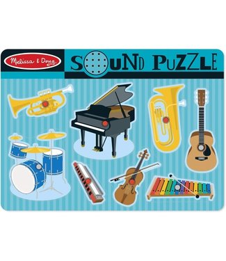 Melissa and Doug Melissa & Doug Wooden Sound Puzzle Musical Instruments 1+