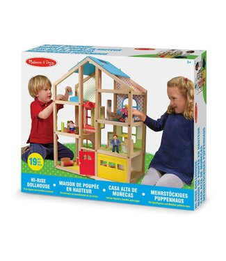 Melissa and Doug Melissa and Doug Open Poppenhuis met Meubeltjes 3+