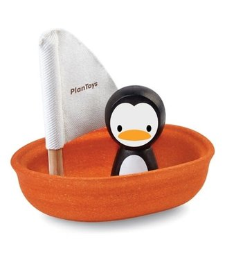 Plan Toys Plan Toys Sailing Boat with Penguin    1+