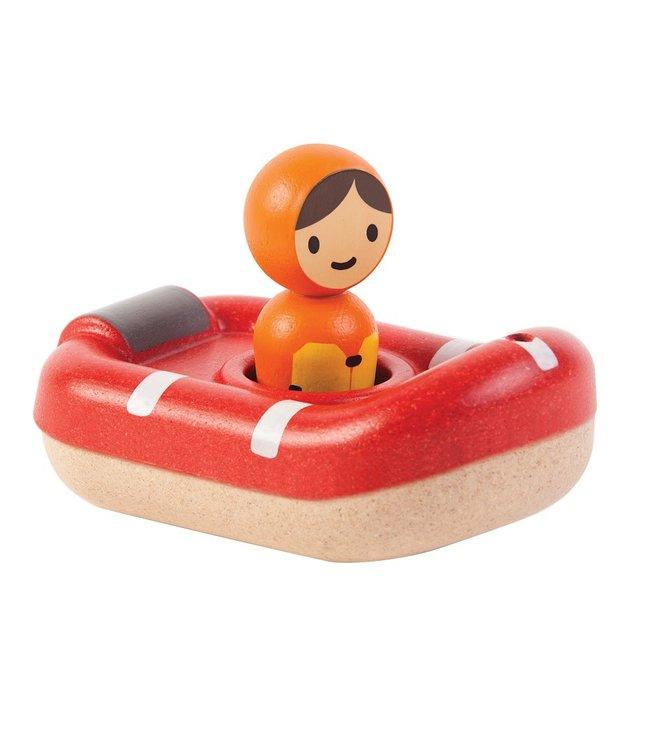 Plan Toys | Houten Boot | Coast Guard Boat | +