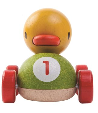 Plan Toys Plan Toys Grijpfiguur Duck Racer 1+