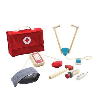 Plan Toys Plan Toys   Houten Dokter Set   6 delig   3+
