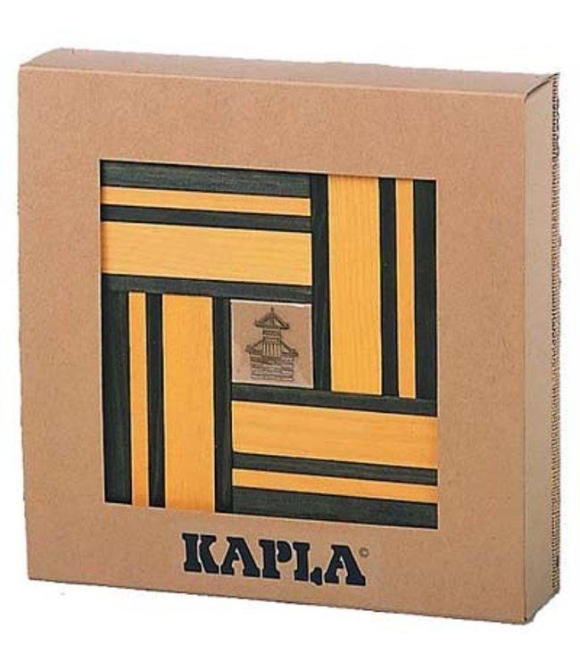 KAPLA 40 + Boek (groen/geel)