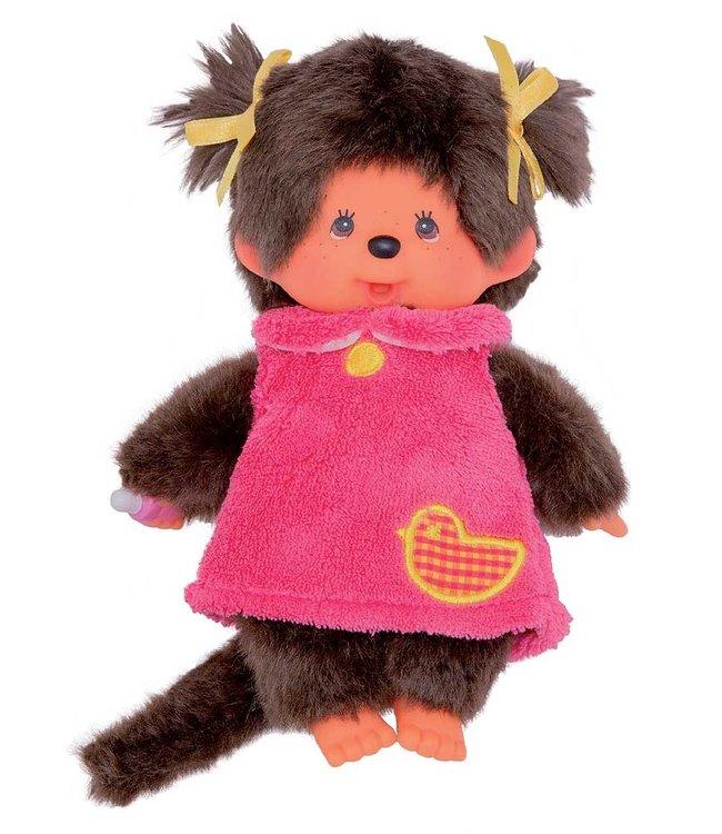Monchhichi Meisje Pink Fluffy Dress 18 cm 2+
