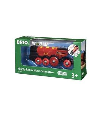 Brio Brio Houten Treinbaan Mighty Red Action Locomotive Battery Operated 8 wheels 3+