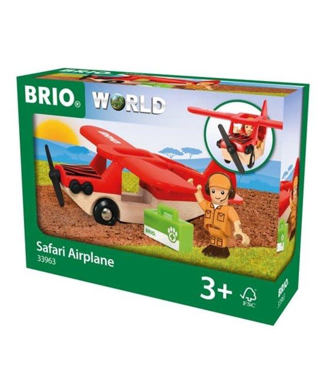 Brio Houten Treinbaan Safari Vliegtuig 3+