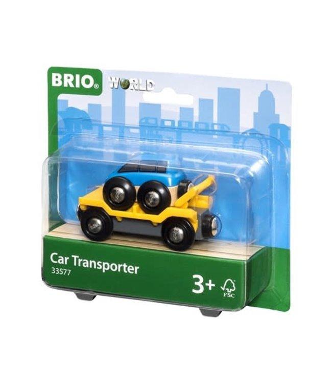 Brio Houten Treinbaan Autotransporter Met Oprijplaat