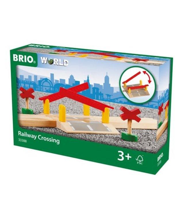 Brio Houten Treinbaan Overweg met Signalen 126 mm 3+