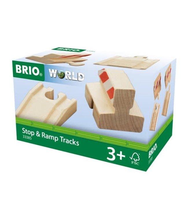 Brio | Houten Treinbaan | Set met Stootblokken | 4 x 54 mm | 3+