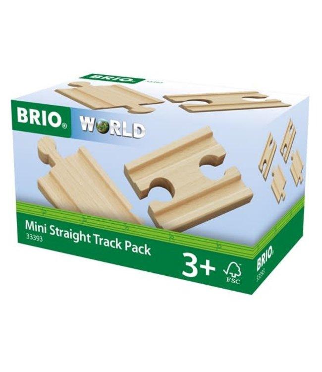 Brio Houten Treinbaan Rechte Rails Mini 4 x 54 mm 3+
