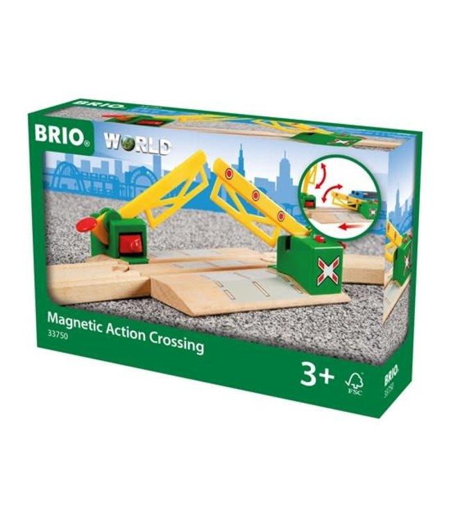 Brio Houten Treinbaan Magnetische Overweg 18,3 cm 3+