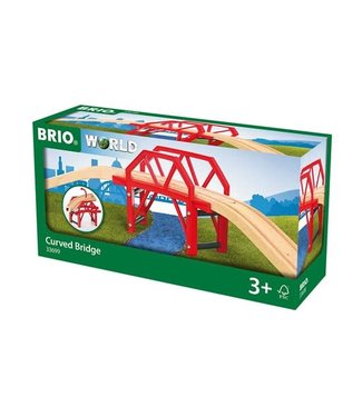 Brio Brio Houten Treinbaan Gebogen Brug 58 cm 3+