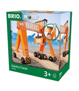 Brio Brio Houten Treinbaan Brug Container Kraan 3+