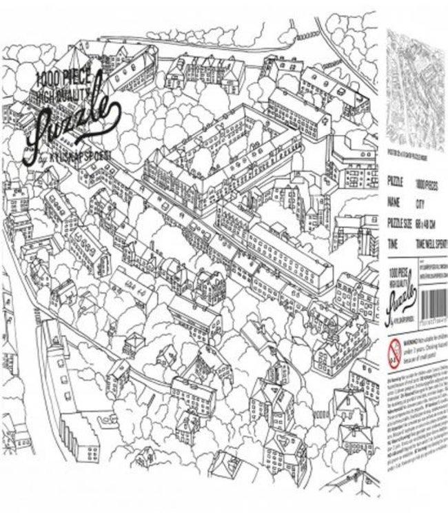 Koelkastpoezie City Sketch 1000 stukjes