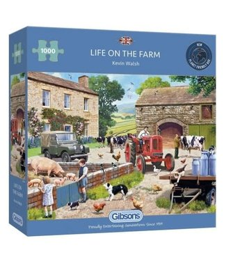 Gibsons Gibsons Puzzle | Kevin Walsh | Life on the Farm | 1000 pieces