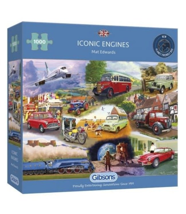 Gibsons Mat Edwards Puzzle Iconic Engines 1000 pieces