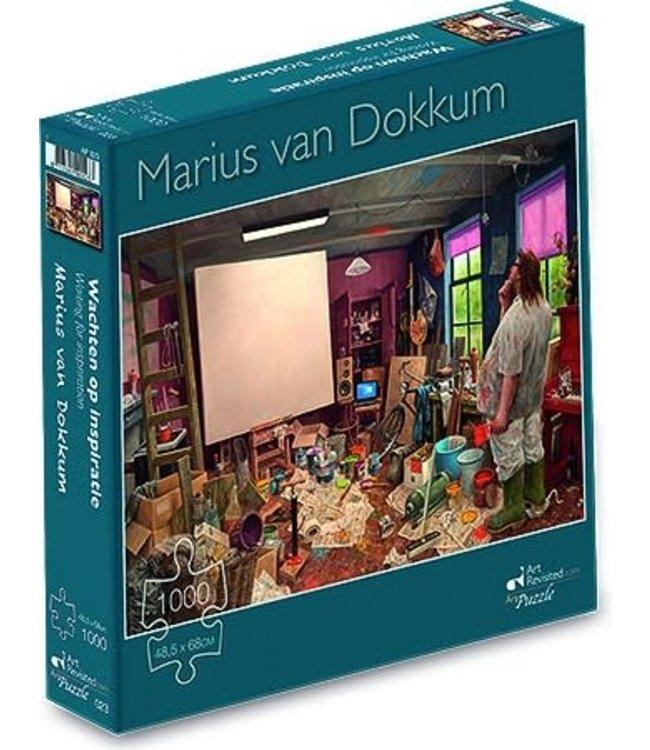 Art Revisited Marius van Dokkum Puzzel Wachten op Inspiratie 1000 stukjes
