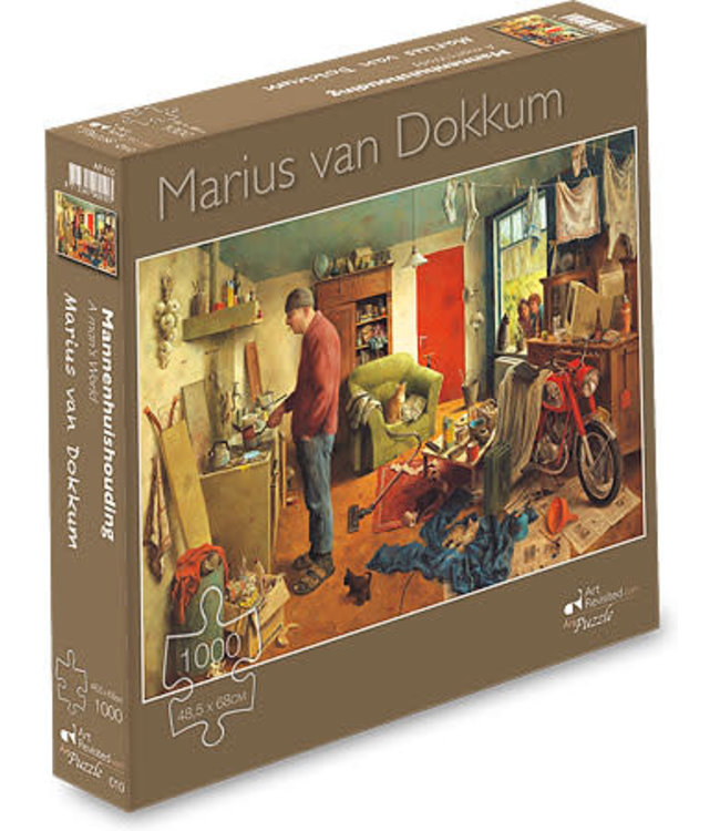 Art Revisited Marius van Dokkum  Puzzel Mannenhuishouding1000 stukjes