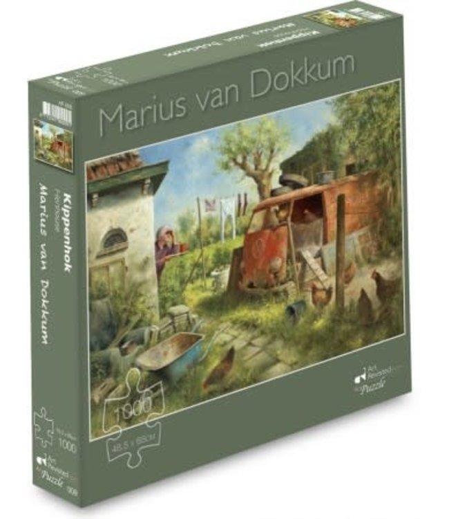 Art Revisited Marius van Dokkum Puzzel Kippenhok 1000 st