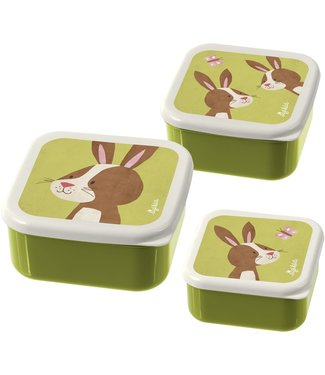 Sigikid Sigikid Little Forest Friends Snack Boxes Rabbit 3 pcs