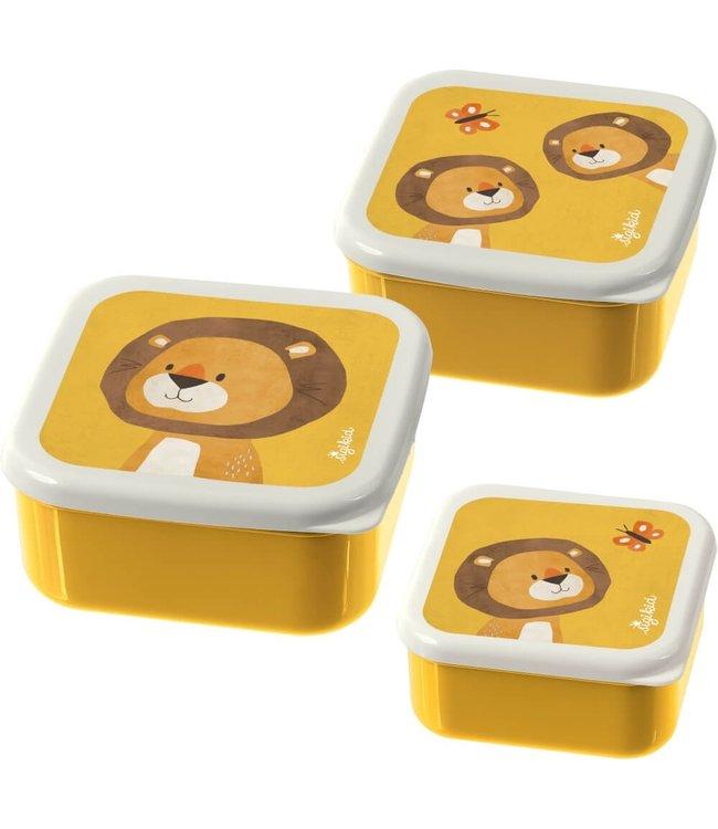 Sigikid Little Forest Friends Snack Boxes Lion 3 pcs