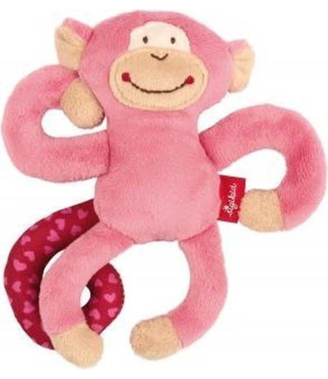 Sigikid | Red Stars |Textile Clip | Monkey | Pink | 17 cm | 0+