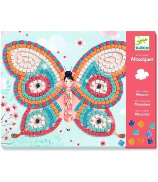 Djeco Djeco | Mozaïek | Kunst op Nummer | Glitter | Vlinders | 4-8 jaar
