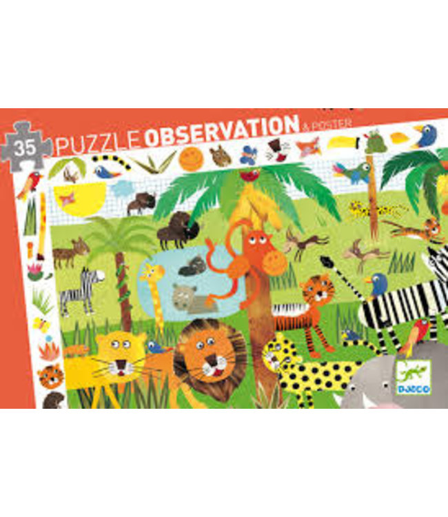 Djeco | Observation Puzzle | Jungle | 35 stukjes | 3+