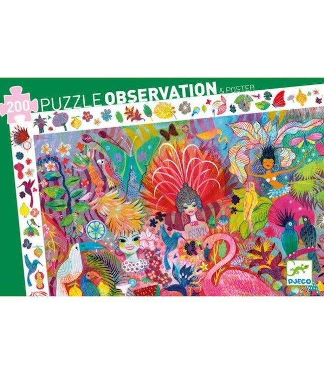 Djeco | Observation Puzzle | Carnaval de Rio | 200 stukjes | 6+