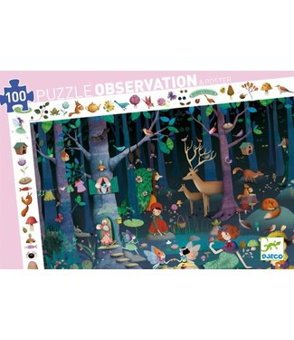 Djeco Djeco Observation Puzzle Enchanted Forrest 100 pcs  5+