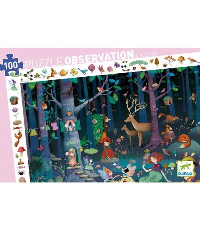 Djeco | Observation Puzzle | Enchanted Forrest | 100 stukjes | 5+