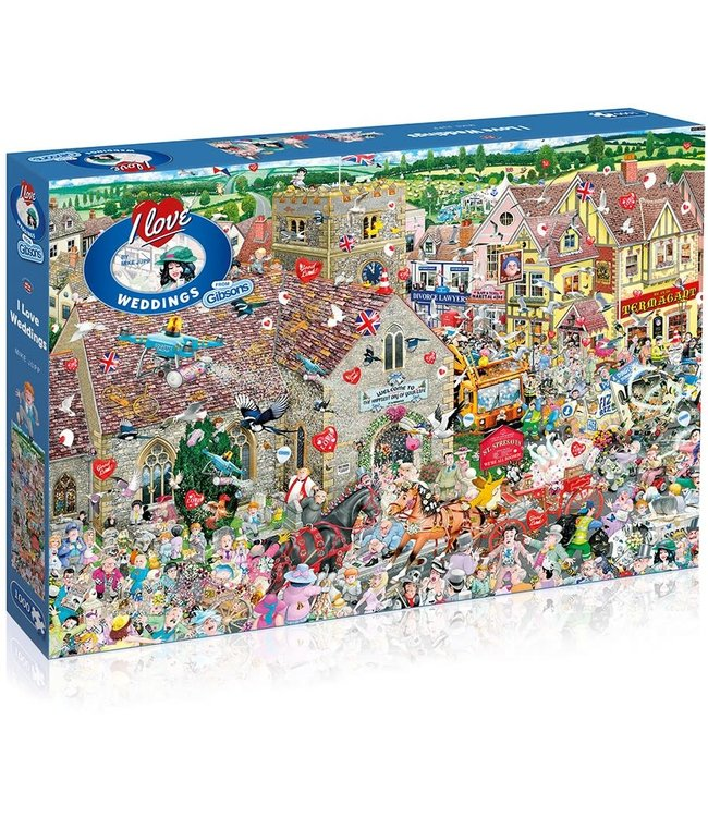 Gibsons Mike Jupp Puzzle I Love Weddings 1000 pieces