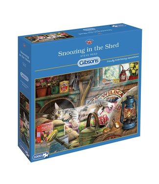 Gibsons Gibsons Puzzle | Steve Read | Snoozing in the Shed | 1000 pieces