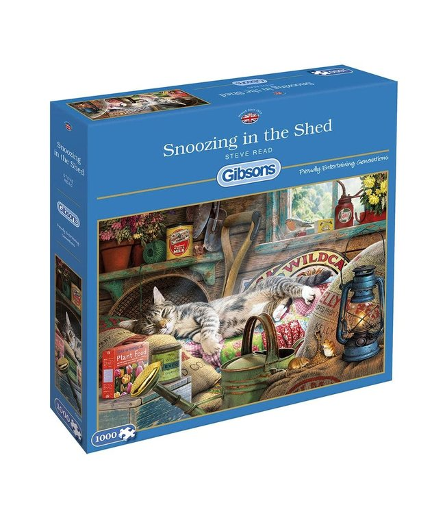 Gibsons Puzzle | Steve Read | Snoozing in the Shed | 1000 pieces