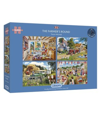 Gibsons Gibsons Puzzle | Trevor Mitchell | The Farmer's Round | 4 x 500 pieces