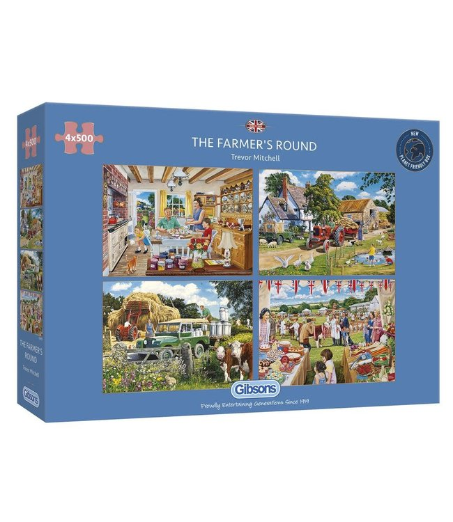 Gibsons Puzzle | Trevor Mitchell | The Farmer's Round | 4 x 500 pieces