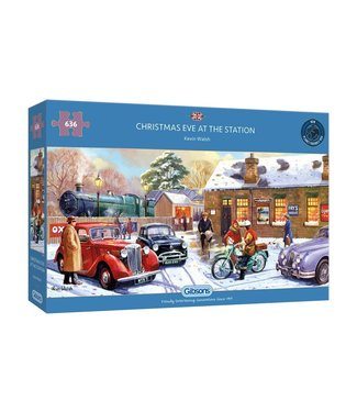 Gibsons Gibsons Puzzle | Kevin Walsh | Christmas Eve at the Station | 636 pieces