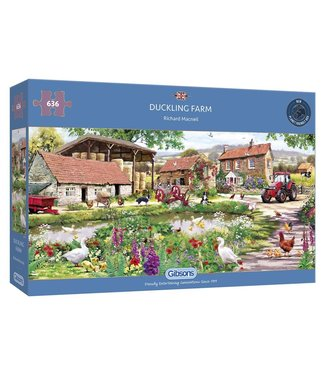Gibsons Gibsons Puzzle | Richard Macneil | Duckling Farm | 636 pieces