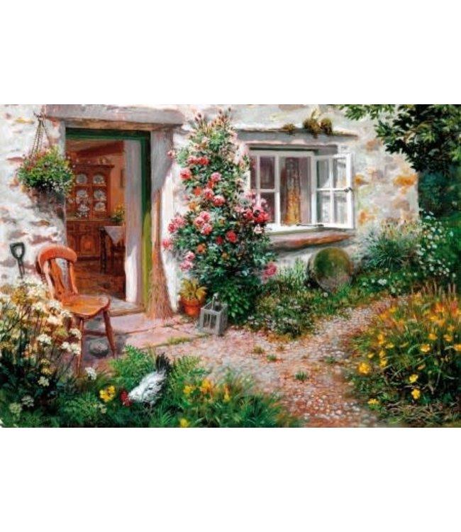Wentworth Houten Legpuzzel | Stephen Darbishire | Roses Around the Door | 40 stukjes