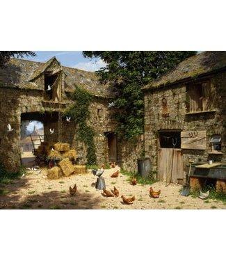 Wentworth Wentworth Houten Legpuzzel | Edward Hersey | Farmyard Scene | 40 stukjes