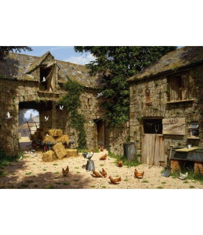 Wentworth Houten Legpuzzel | Edward Hersey | Farmyard Scene | 40 stukjes
