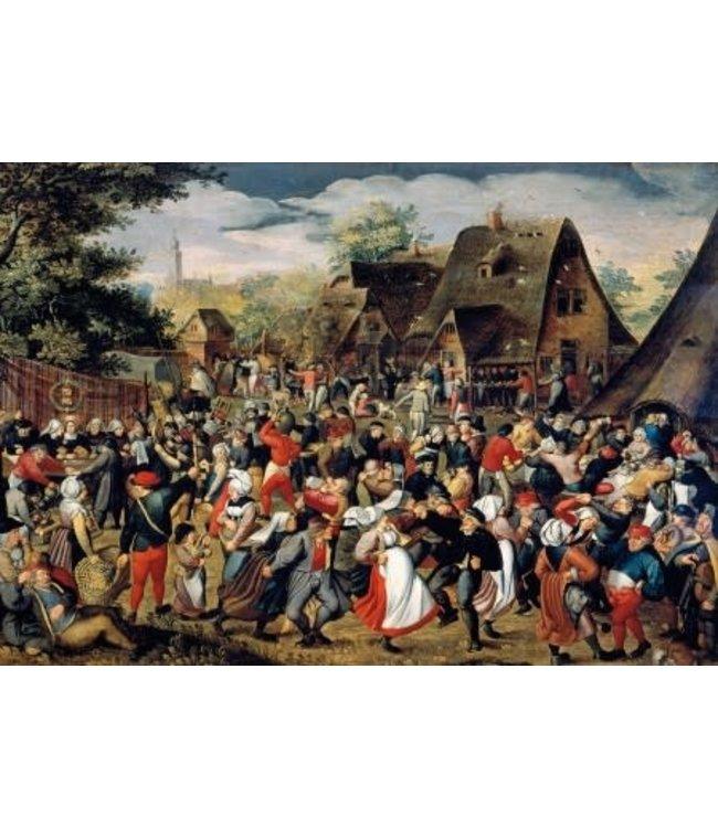 Wentworth Houten Legpuzzel | Pieter Brueghel | The Village Festival | 40 stukjes
