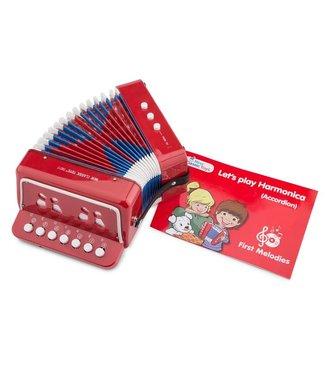 New Classic Toys New Classic Toys  | Accordeon | Rood | inclusief Muziekboek 3+