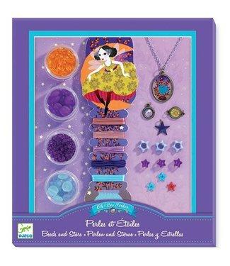 Djeco Djeco Needlework Beads and Jewellery Beads and Stars 8+