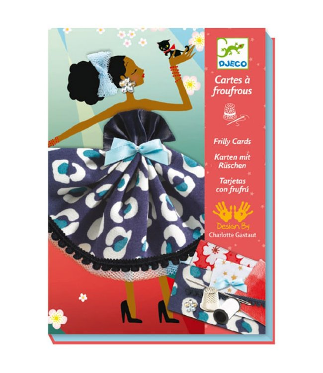 Djeco | Sewing | Frilly Cards| So Paris | 7-13 jaar
