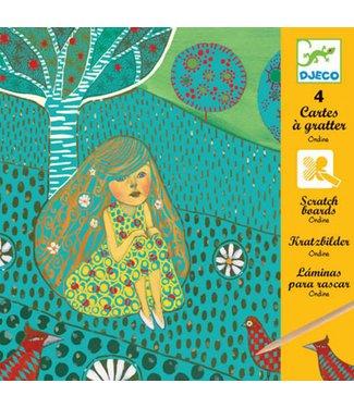 Djeco Djeco  Scratchs card - Ondine  Krasfolie 9-15 jr