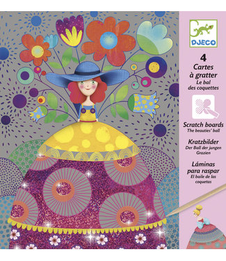 Djeco Djeco | Scratch Cards | Pastel | the Beauty's Ball | 6-10 jaar