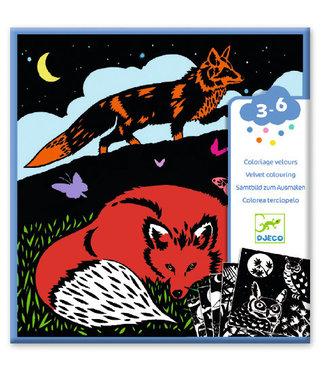 Djeco Djeco Kleurplaten met Velour Forest 4-8 jaar