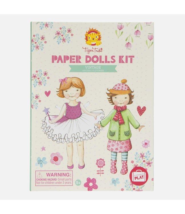Tiger Tribe Paper Dolls Kit Vintage  5+