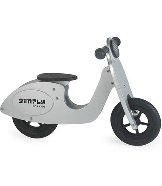 Simply For Kids Simply For Kids Tweewieler Loopfiets Scooter Silver +18 mnd